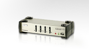 ATEN KVM switch CS-1734BC,USB Hub, OSD, 4PC audio+USB-PS/2
