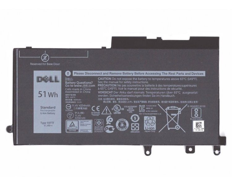 Dell Baterie 3-cell 51W/HR LI-ON pro Latitude NB 5280,5290,5480,5490,5580,5590