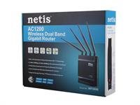 Netis Router DSL WIFI AC/1200 DUAL BAND + 1GB LAN, 4x Antena + 1x USB