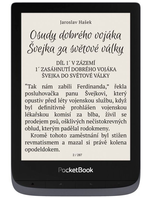 "POCKETBOOK e-book reader 632 Touch HD 3/ 16GB/ 6""/ Wi-Fi/ micro USB/ čeština/ Metallic Grey"